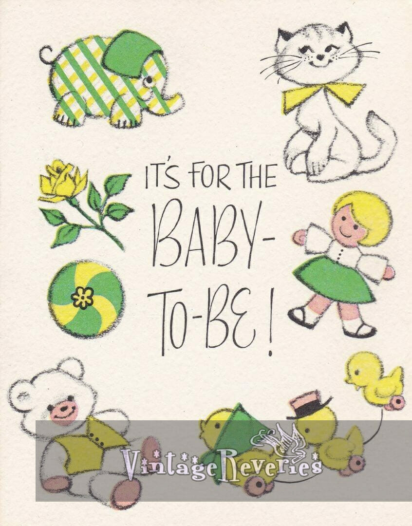 it's for the baby to be