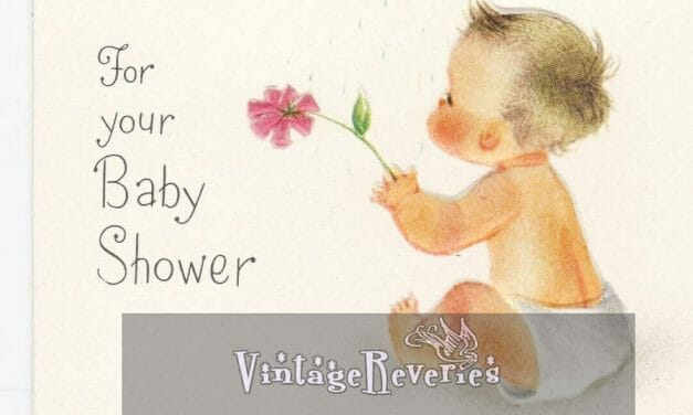1960s baby shower cards