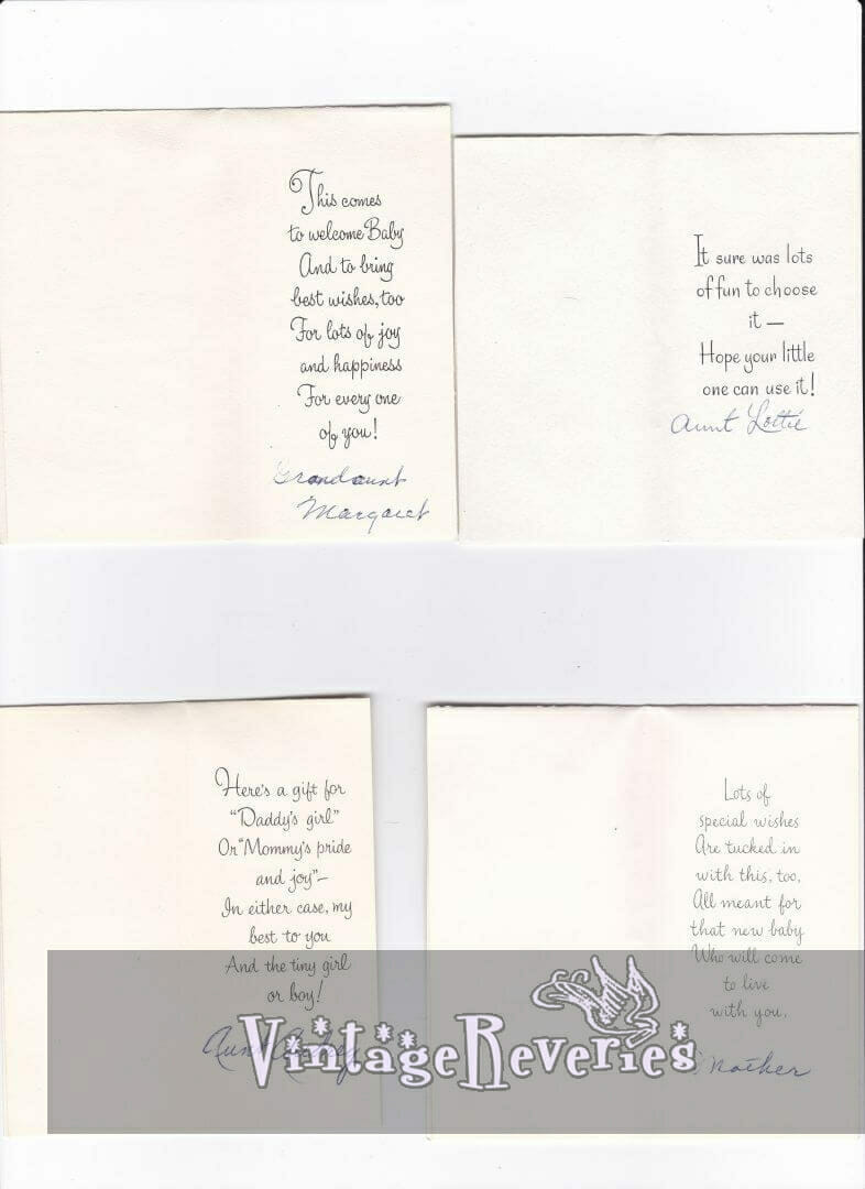 Rhymes for baby shower gifts