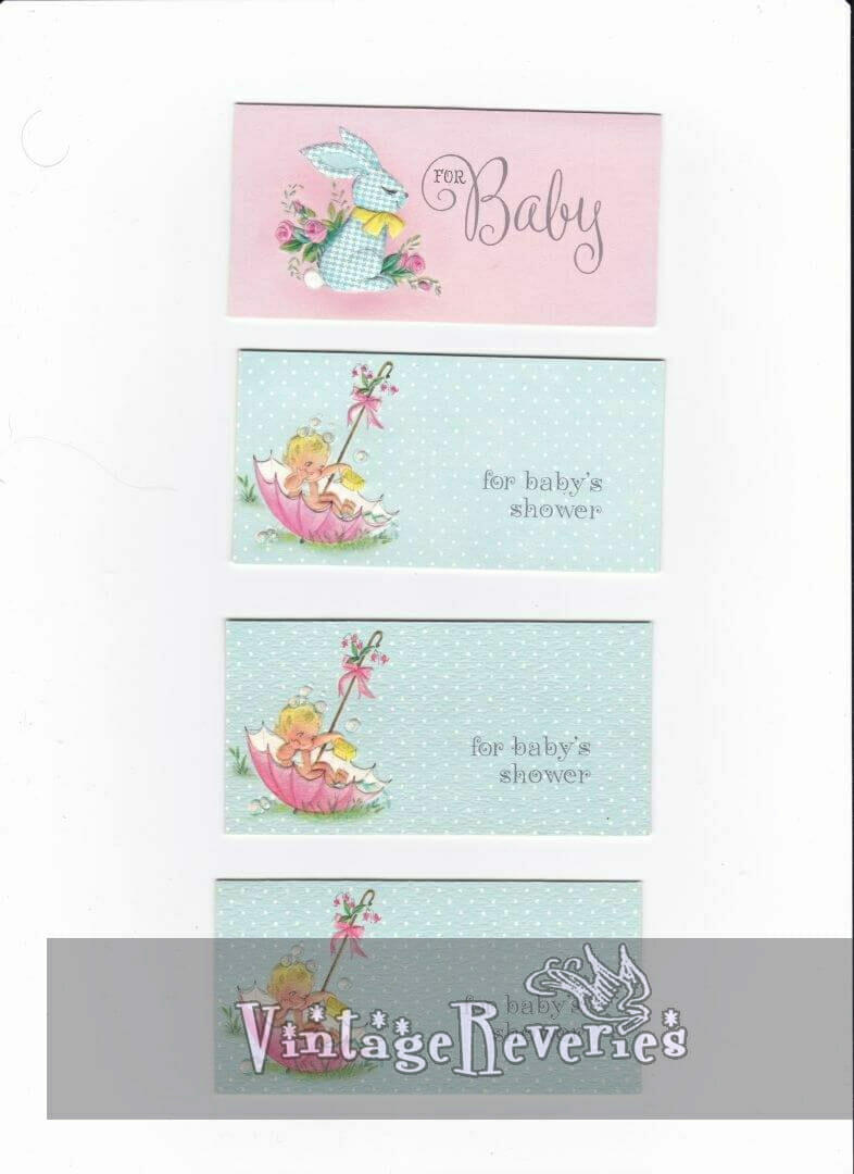 rectangle baby shower cards scans