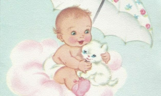 Baby Shower Cards from 1962