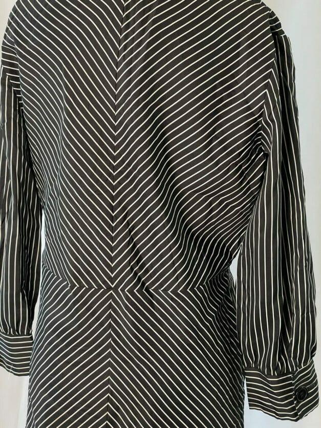 Cute Classic Long Sleeve Vintage Pinstripe Dress