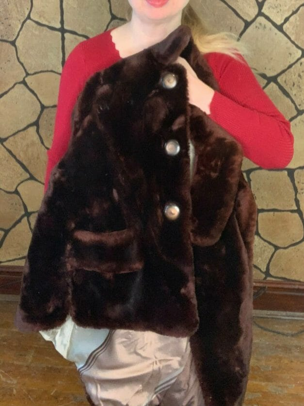 Vintage mouton fur coat for sale