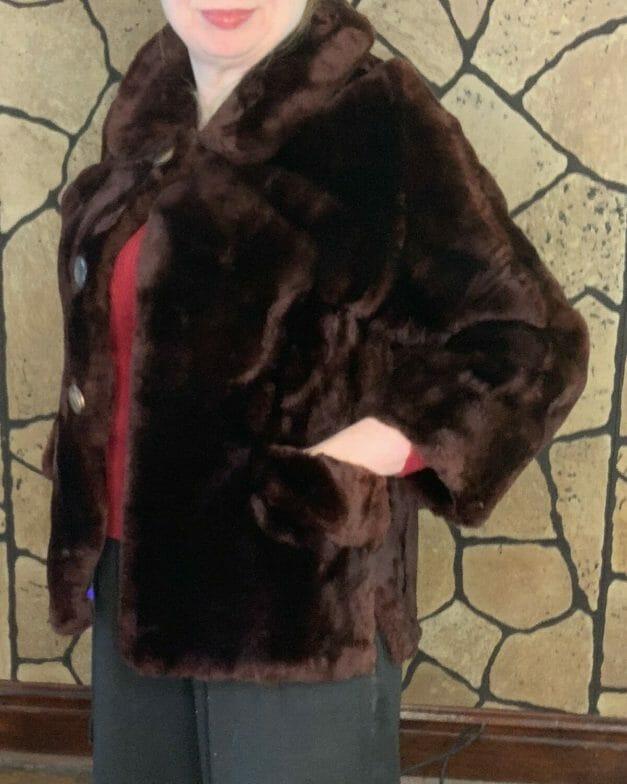 1950s mouton coat