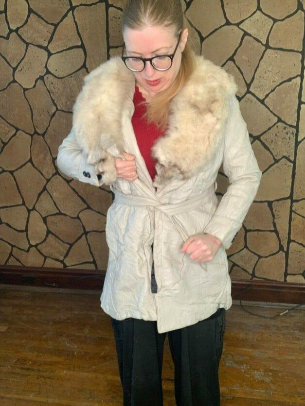 vintage wrap coat