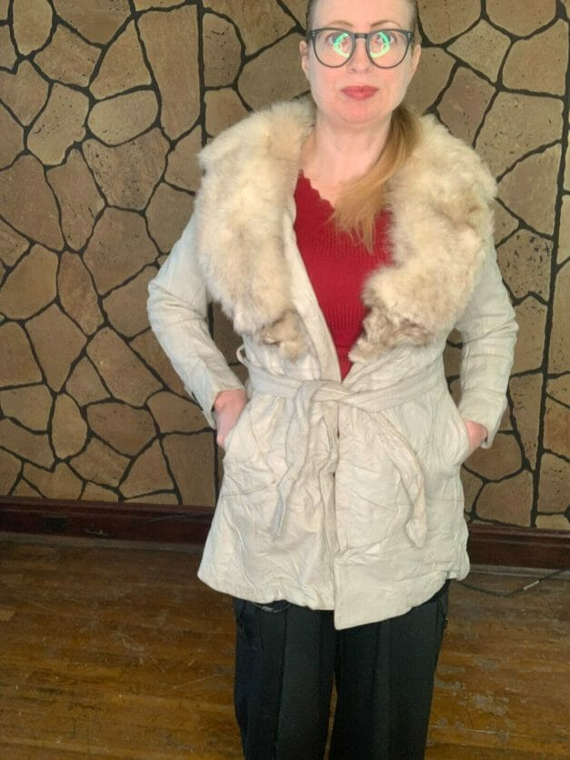 vintage leather coat for sale