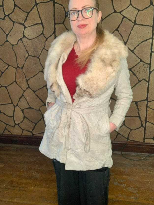 suede wrap coat for sale