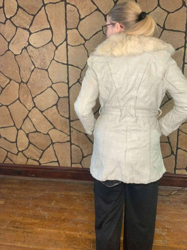 70s wrap coat with fur