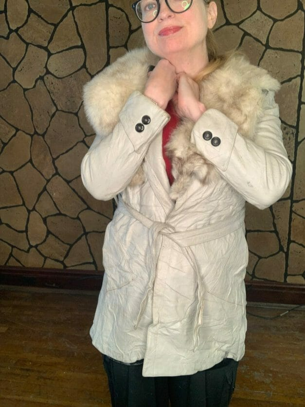 Lady Scully of California coat