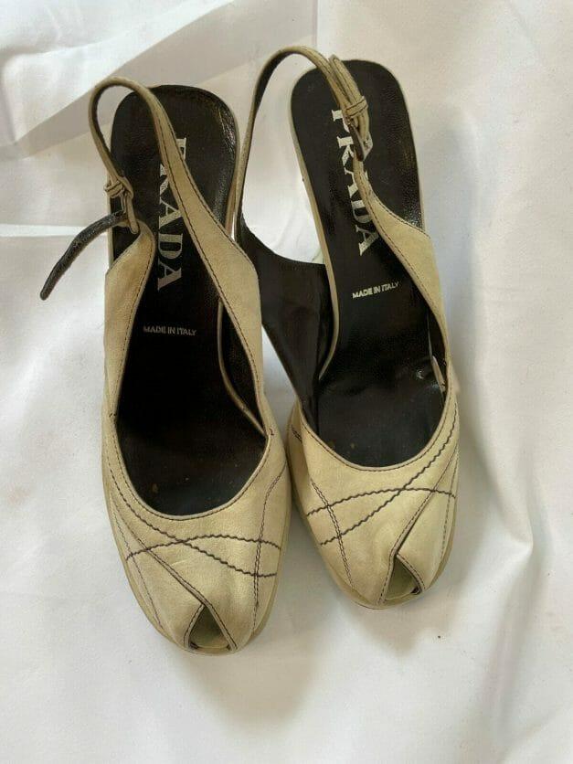 vintage 90s Prada platform sandals