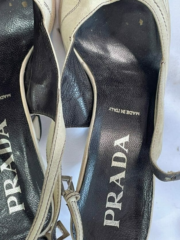 authentic vintage Prada heels from the 1990s