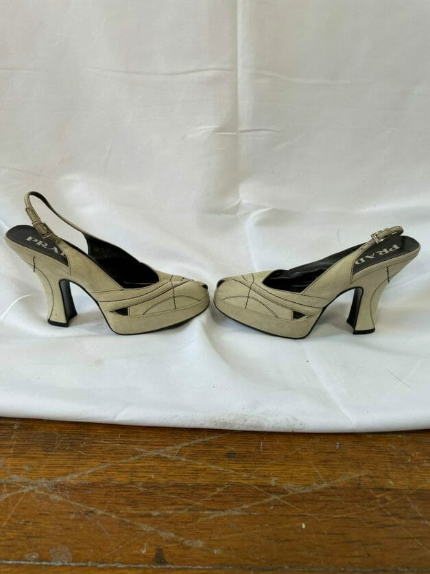 slingback platform Prada heels