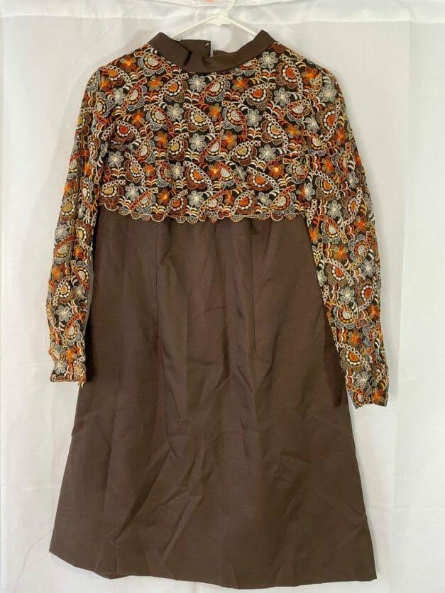 large vintage 70s dress
