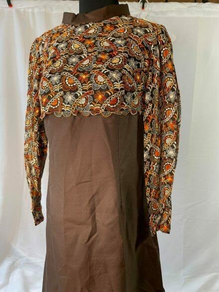 brown 1970s dress