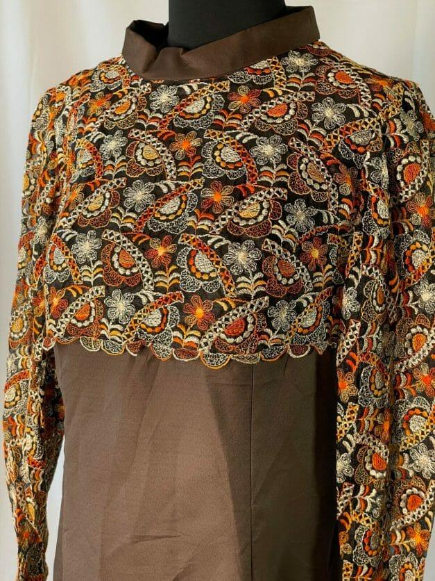 large 1970s dress
