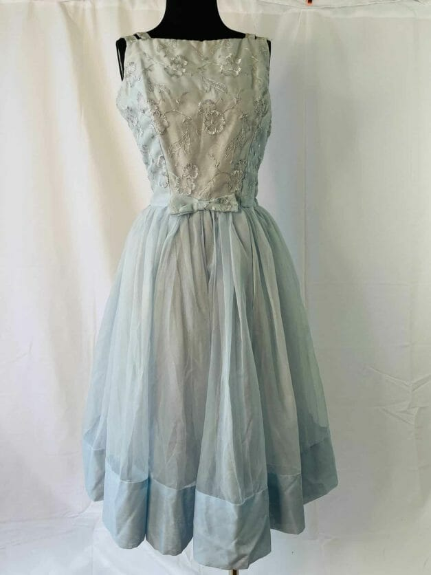 """blue Rare """"new look"""" vintage summer party dress"""