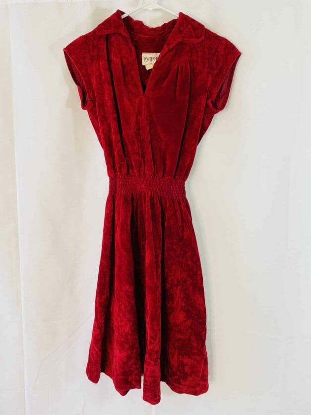 vintage 70s velvet dress