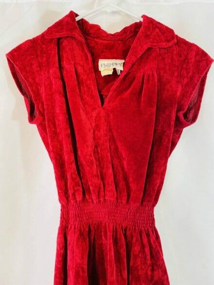 red velvet dress for sale
