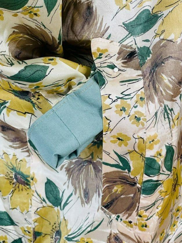 Vintage reversible floral coat