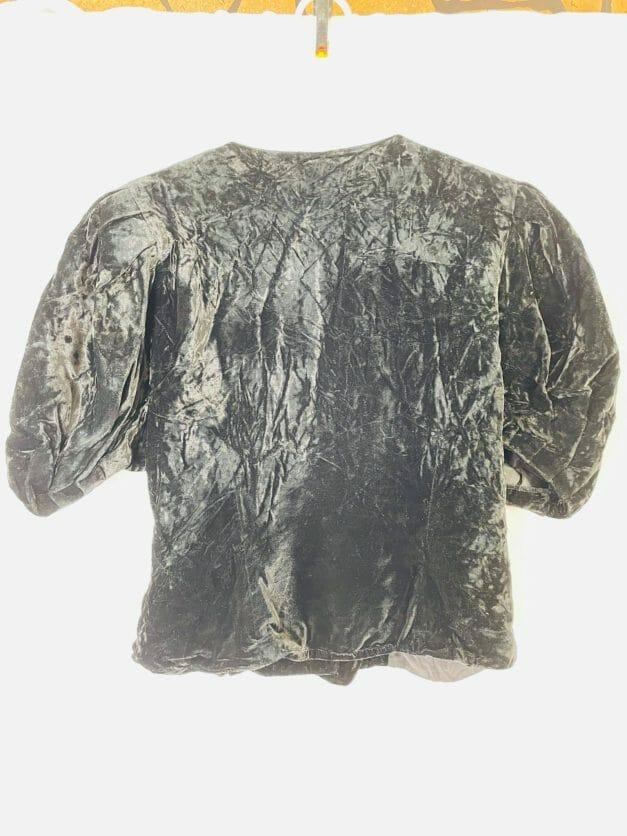 black velvet shirt