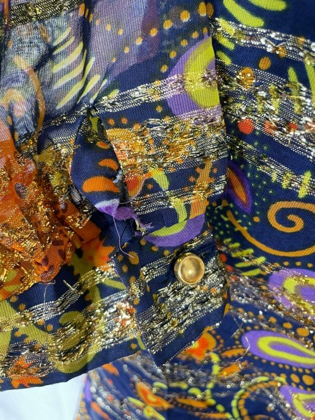 psychedelic 70s dress