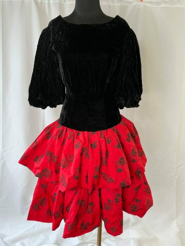 sexy 80s party dress