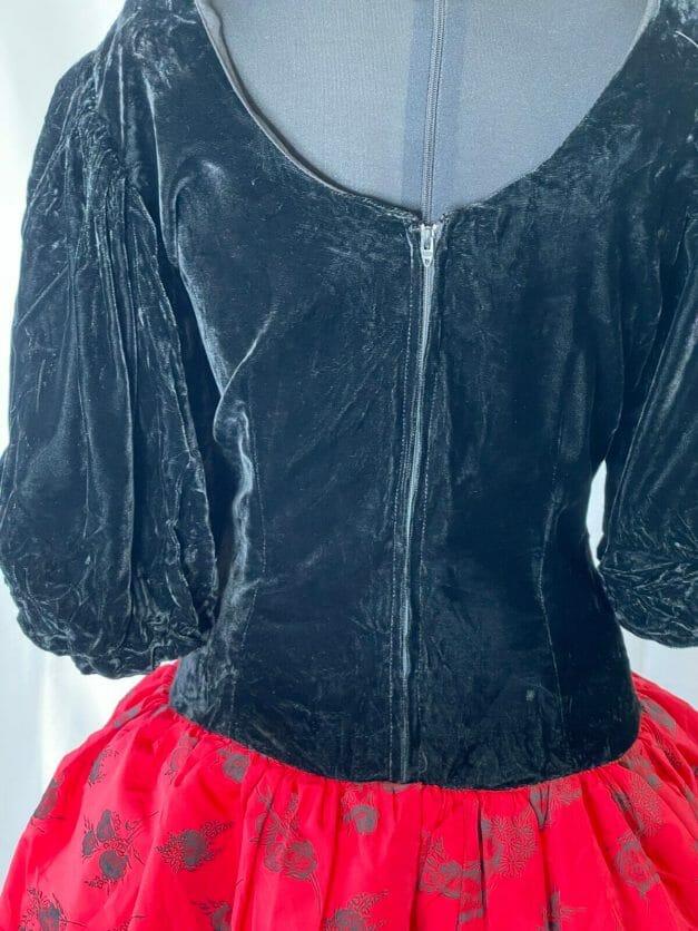 classic 1980s dress
