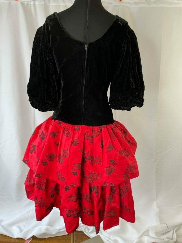 1980s costume dress