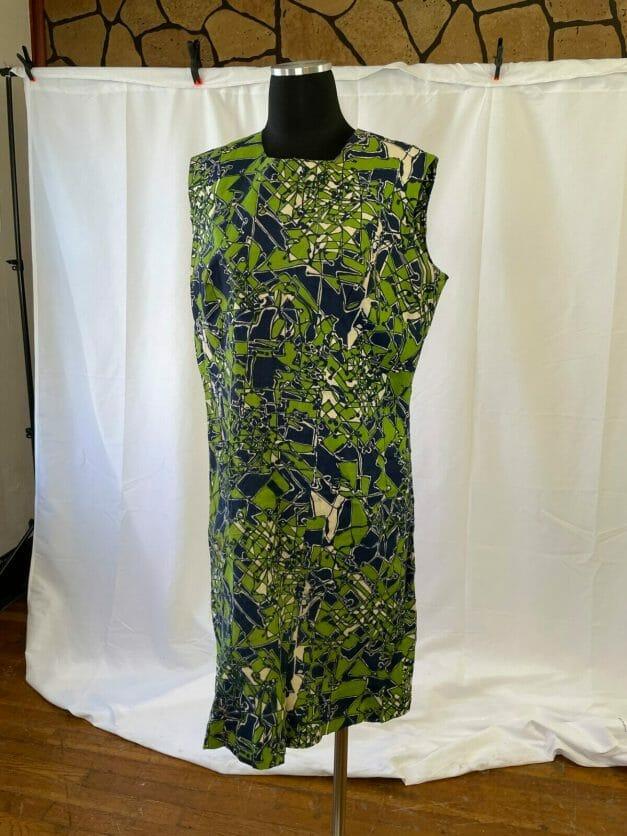 plus size Vintage crazy print 1960s dress -
