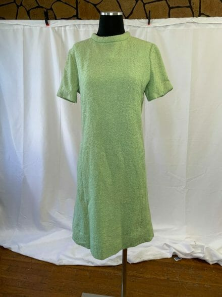 green 1960s shift dress large