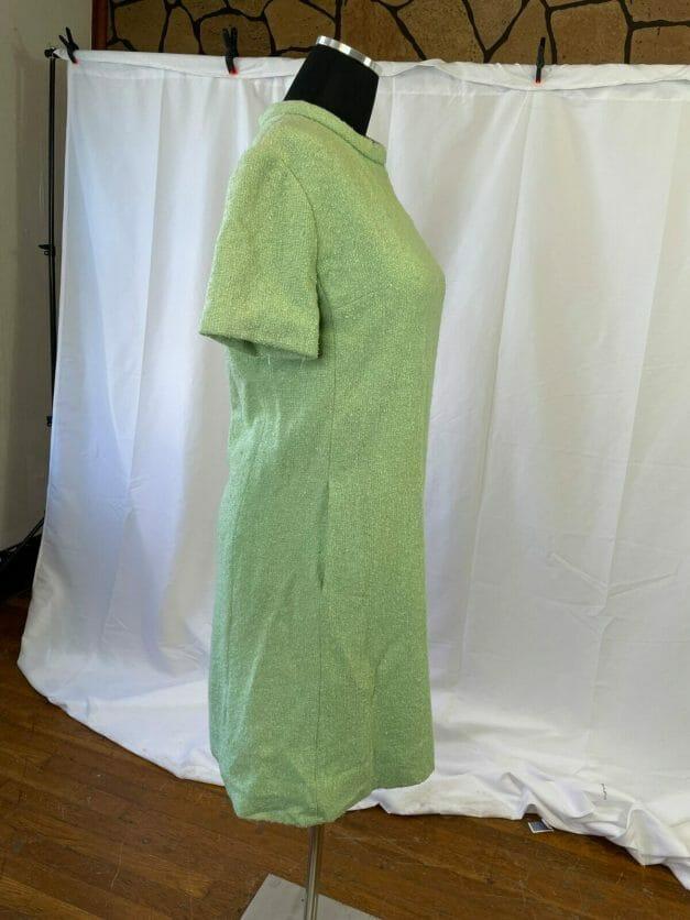 Pastel green vintage 1960s shift dress