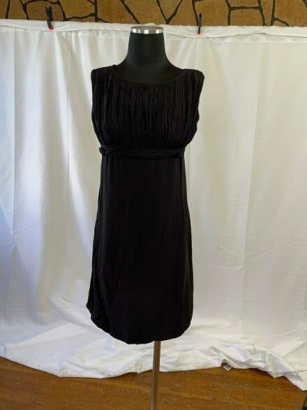 Empire waist vintage little black dress from 1960s