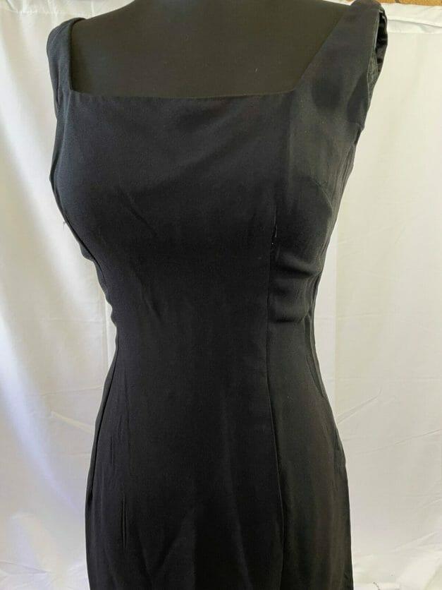 Sexy little black dress vintage 1950s sheath dress