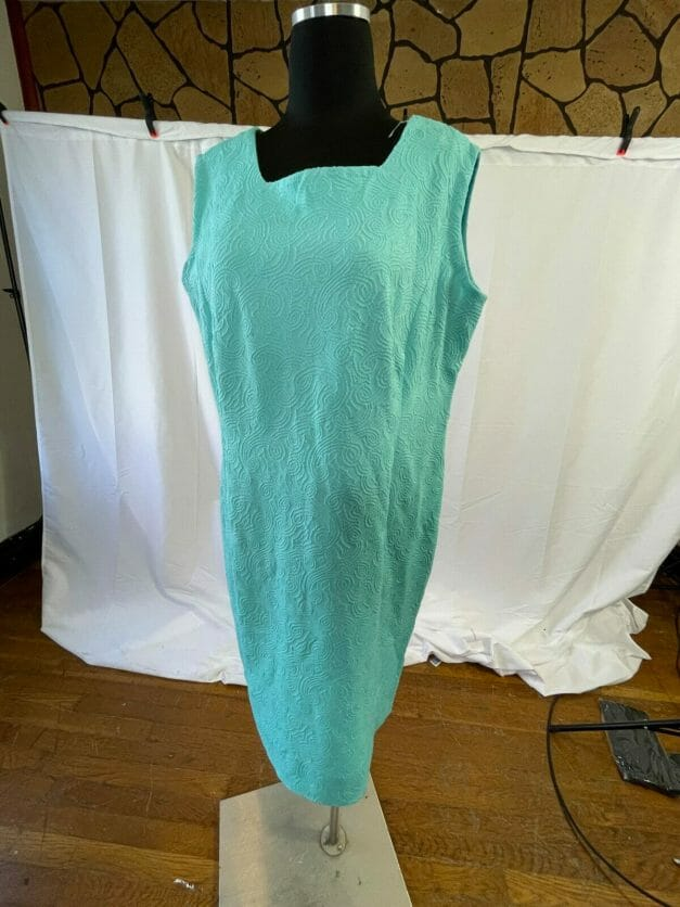 Classic vintage summer sheath dress - XL
