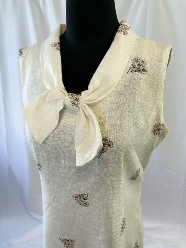 Cute vintage 1970s linen work dress for sale