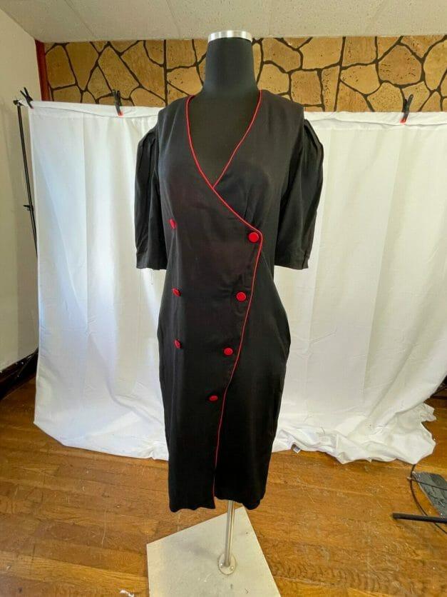 vintage 80s pinup dress