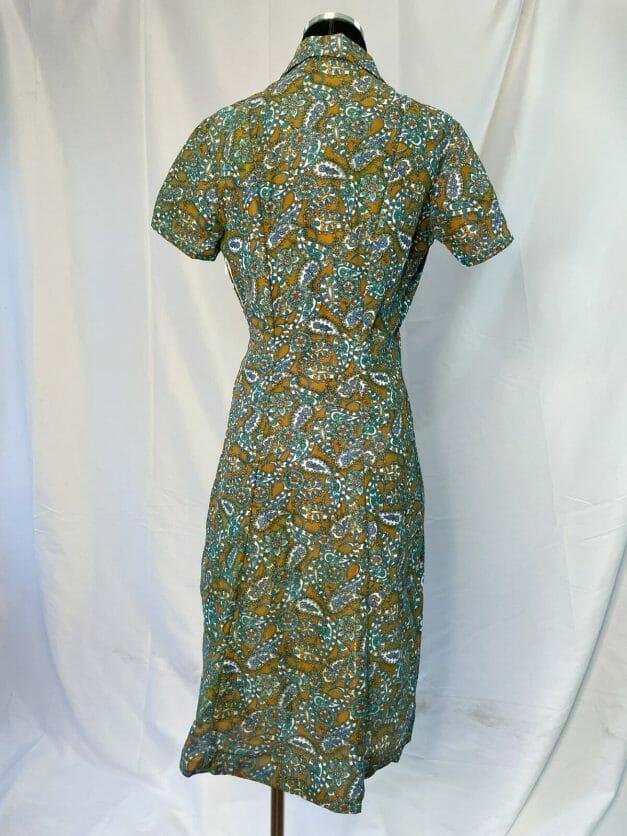 green paisley dress