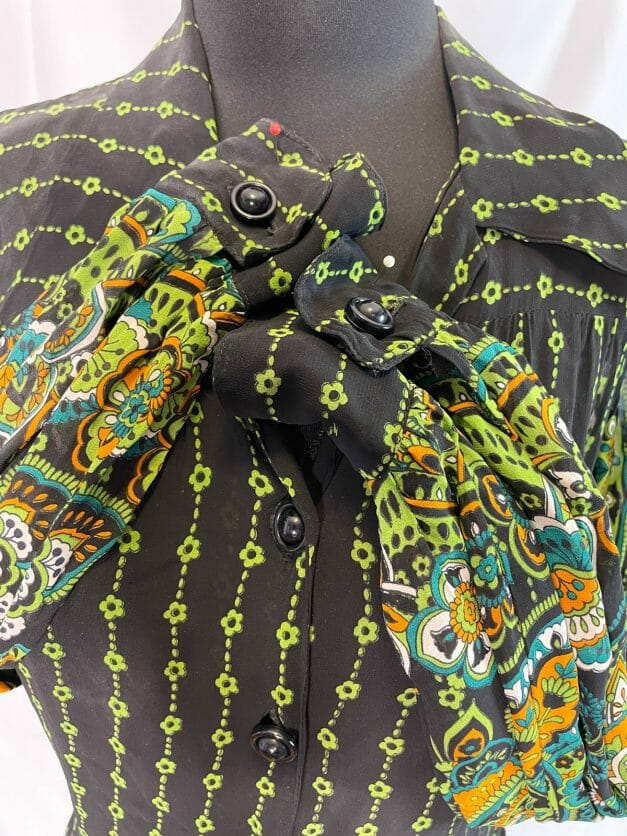 70s shirt dress psychedelic