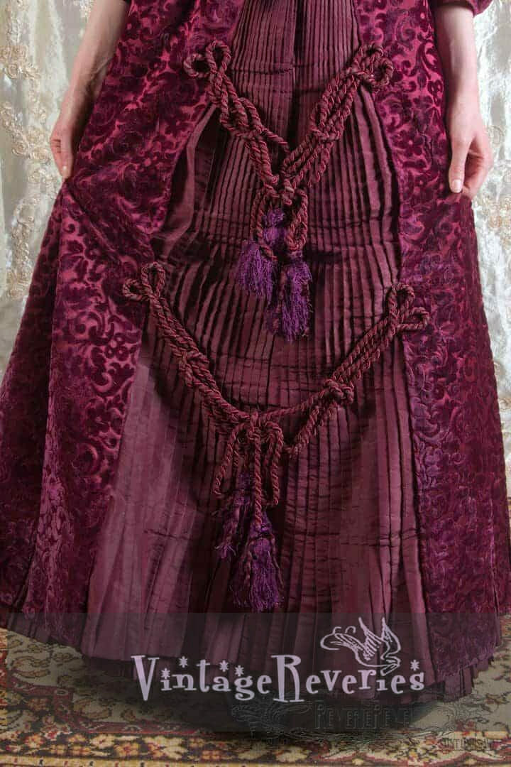 like wearing upholstery 1880s dress