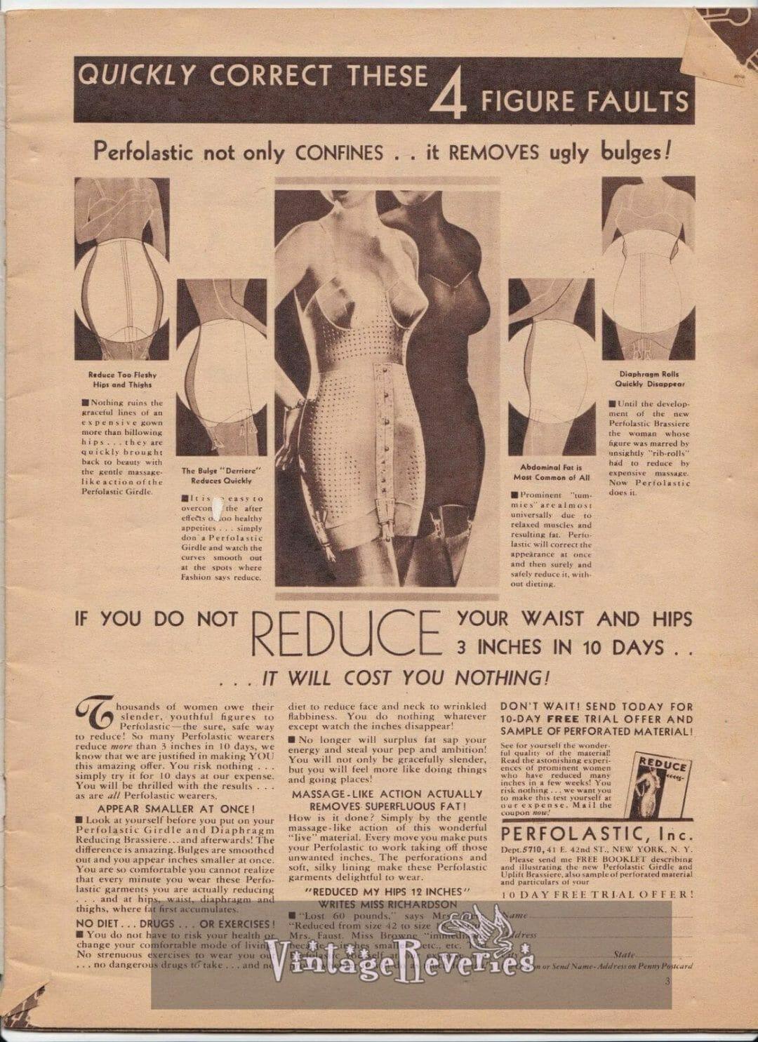 1935 girdle and shapewear underwear fashion
