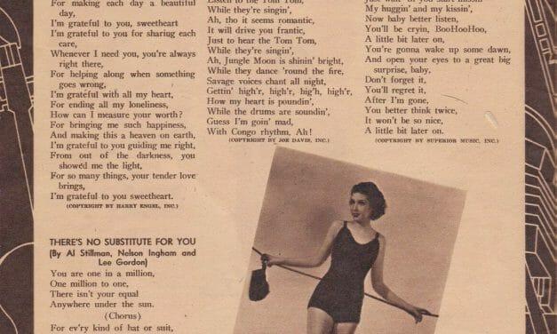 Lyrics to 1930s popular songs