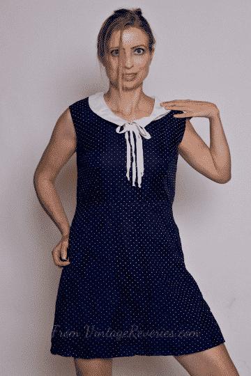 polkadot vintage sheath dress